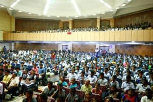 IAS aspirants and their parents at Chinmaya IAS Academy
