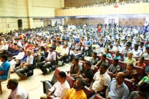 Crowd at Chinmaya IAS Academy Career guidance programme