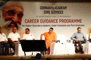 Main stage of Career Guidance Programme conducted by Chinmaya IAS Academy, Chennai