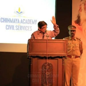 Kiran Bedi, Lieutenant Governor of Puducherry gave a special speech at Chinmaya IAS Academy Event in Chennai