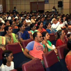 Crowd at Chinmaya IAS Academy event celebration, Chennai