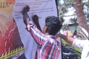Chinmaya IAS Academy Students initiate Signature Campaign for Road Safety