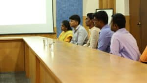 Chinmaya IAS Academy students listening their faculty member