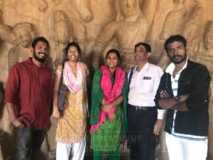 Chinmaya IAS Academy Students with faculty at temple field trip